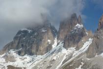 Viel Schnee auf der Grohmannspitze und am Daumenballen der Fünffingerspitze