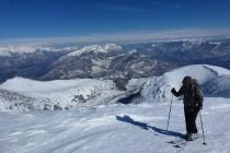 Aufstieg zum M. Altissimo 2079m, im Hintergrund der Monte Stivo 2059m und der Cornetto 2180m.