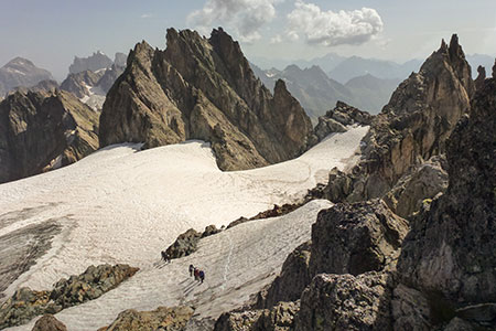 Aufstieg zum Fünffingerstock 2995m