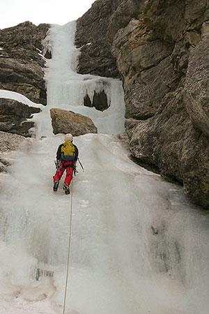 Eisklettern am Jochberg