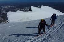 Kurz vor dem Gipfel des Monte Camicia mit Blick zur Adria