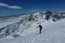 Am Gipfel des Monte Camicia 2564m, hinten der Gran Sasso