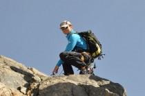 Mit Seilsicherung geht's über das Obertaljoch zum Fünffingerstock