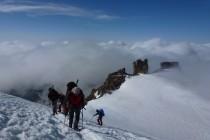 Während des Gipfelgangs zum Gran Paradiso 4061m lichteten sich die Wolken.