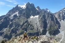 Eine unserer ersten Touren führte uns über 20 Seillängen mit Schwierigkeitsgrad bis 5c auf den Tete du Vallon