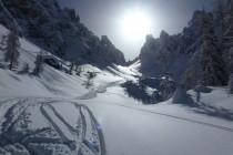 Vorfreude auf die Abfahrt, Forcella della Neve