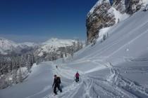 Im Aufstieg zur Forcella della Neve