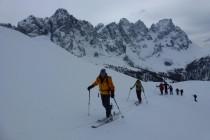 Aufstieg zur Cima del Lago 2318m. Schöne Abfahrt im Pulverschnee...
