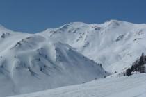 Blick auf unser nächstes Ziel: Grionkopf 2896m im Rojental.