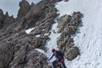 Die Schneefelder am Normalweg zur Grohmannspitze waren nicht wirklich ein Hindernis.