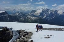 Ein herrlicher Tag...Wenige Meter vor dem Gipfel der Grohmannspitze 3126m.