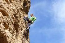 Konglomerat im Kazikli Canyon. Rainer in Bal Yolu, 6b. Bild: Bernd Eberle