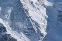 Der Nordpfeiler des Piz Spinas, 600 Meter hoch