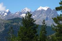 …zum Mont Pelvoux 3943m, Pic Sans Nom 3913m und Ailefroide 3954m (v.r.n.l.).