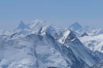 ...zum Matterhorn, Weisshorn und Dent Blanche