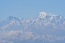 Und immer wieder grüsst der Mont Blanc 4807m, links die Gr. Jorasses 4208m mit der Nordwand.