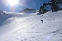 Abfahrt von der Schnapfenspitze nach Norden.
