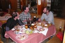 Das Fleischfondue war wieder genial. Danke an Tina und Günter für die tollen Zeiten auf der Heidelberger Hütte!