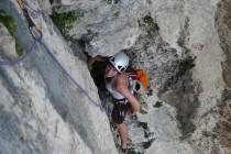 …mit Julia in der Stenico am Colodri über Arco…einfach nur genial, Skitour und Klettern an einem Tag.