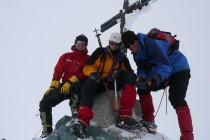 Rainer, Jürgen und Jörg (vlnr.) am Gipfel des Allalinhorn.