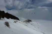 Direkt von Castelluccio ging's mit Ski zum ersten Gipfel.