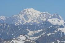 Aussicht vom Gipfel des Breithorn: Der Mt. Blanc 4807m
