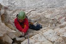 Ausgesetzte Kletterei an nicht immer festem Gestein…
