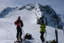 Auf dem Piz da las Coluonnas 2960m, von La Veduta am Julierpass, im Hintergrund der Piz Lagrev 3095.