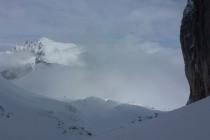 ...sehr reizvoll sein. Der Dürrenstein während des Aufstiegs von der Plätzwiese zur Forc. del Pin 2657m.