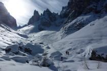 Noch gutes Wetter im Aufstieg von Misurina zur Forc. della Neve 2457m.