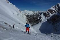 Die letzte Skitour vom Pragser Wildsee über die Seitenbachscharte 2331m...