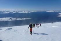 Zum Gipfel hin lies der Wind etwas nach....
