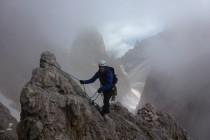 ...führt uns im Nebel auf die Grohmannspitze 3126m.