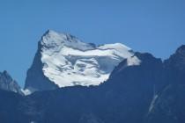 Barre des Ecrins 4102m, vom Gipfel der Aiguillette de Lauzet gesehen.