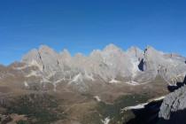 Am 28.12. kletterten wir die Südwand (Trenker) an der Kl. Fermeda (links)