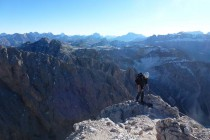 Kurz vor dem Gipfel des Sass Rigais 3025m