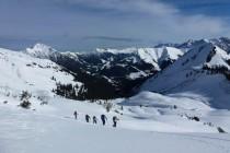Der Aufstieg zur Hinteren Steinkarspitze endete kurz vor dem Gipfel im Föhnsturm...