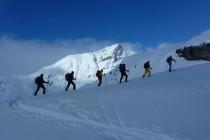 Im Aufstieg von La Veduta Richtung Piz Surgonda 3197m
