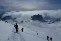 Die steile Gipfelflanke ging gut