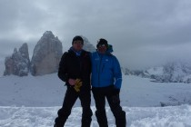 Mit meinem Bergführer-Kollegen Jürgen Wittmann am Sextenstein.