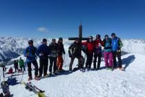Am Gipfel des Piz Daint 2968m über dem Ofenpass.