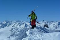 Mein Bergführer- Kollege Jochen Hollfelder mit der zweiten Gruppe.