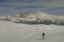 ...alles super während der letzten Skitour zur Lastoi de Formin. Tofana de Rozes im Hintergrun