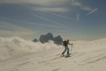 Monte Pelmo im Hintergrund.