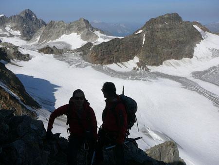 Im Gipfelbereich des Piz Buin