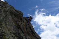 ...stellenweise schöne Kletterei...