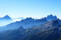 Antelao, Croda di Lago und Monte Pelmo v.l.