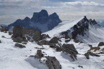 Blick von der Forc. Giau zum Monte Pelmo 3168m und Mondeval 2455m