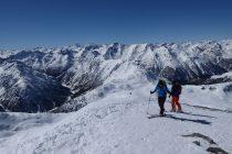 Kurz vor dem Gipfel des Piz Daint 2968m.