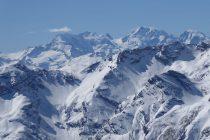 Ausblick bei bestem Wetter zur Bernina...